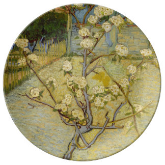 Small Pear Tree in Blossom by Vincent Van Gogh Porcelain Plates