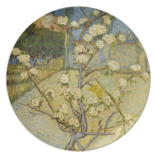 Small Pear Tree in Blossom by Vincent Van Gogh Party Plates