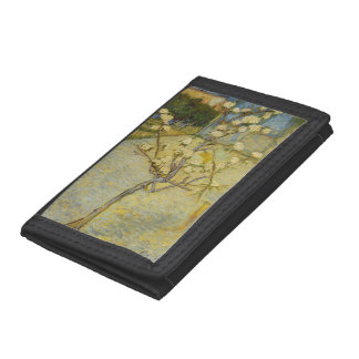 Small pear tree in blossom trifold wallet