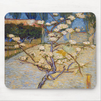 Small Pear Tree in Blossom, Vincent Van Gogh Mousepads