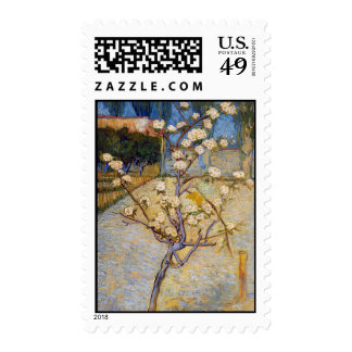Small Pear Tree in Blossom, Vincent Van Gogh Stamps