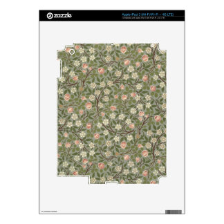 Small pink and white flower wallpaper design skins for iPad 3