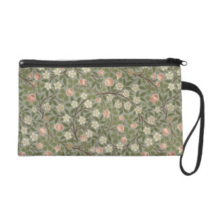Pink Flower Wallpaper Design Bags Handbags Zazzle