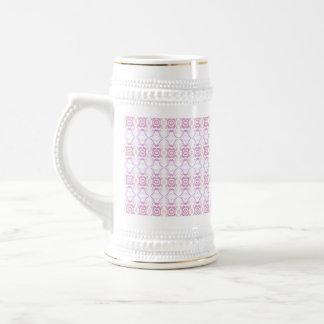 Small Pink Flower Pattern. Beer Stein
