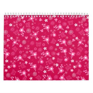 Small pink flowers calendar
