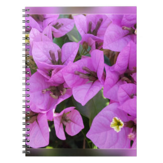 small pink flowers notebook