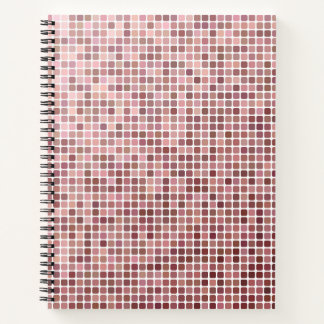 Small Pink Squares Notebook