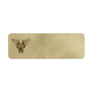 Small Plain Gargoyle Apothecary Label