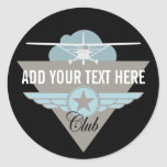 Small Plane Club Your Text Here Sticker