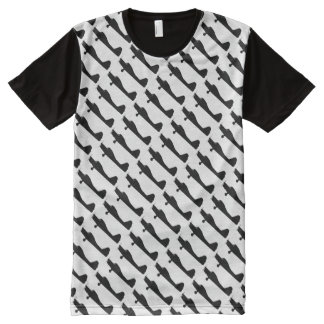 Small Plane Silhouette Mens T All-Over-Print T-Shirt