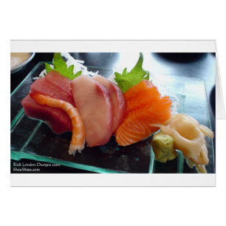 Small Plate Shrimp Tuna Sushi Gifts Tees Cards Etc Card