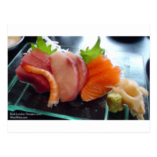 Small Plate Shrimp Tuna Sushi Gifts Tees Cards Etc Postcard