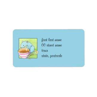 Small Pleasures blue Address Label label
