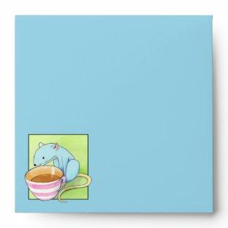 Small Pleasures blue Invitation Envelope envelope