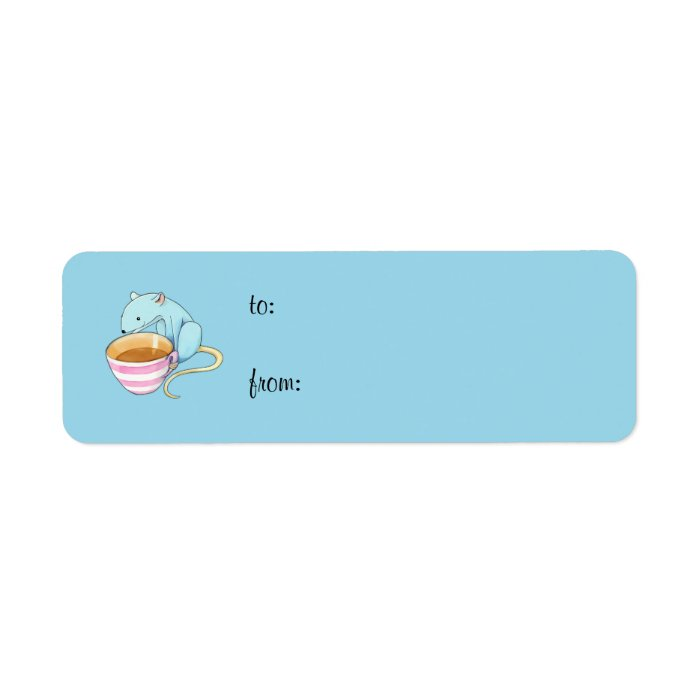 Small Pleasures blue small Gift Tag Label