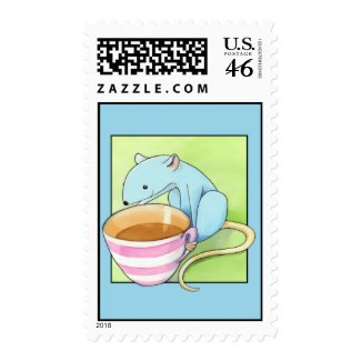 Small Pleasures blue Stamp stamp