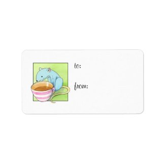 Small Pleasures white Gift Tag label