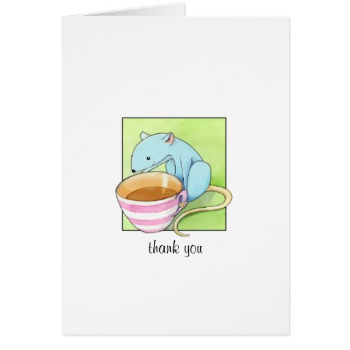 Small Pleasures white Thank You Note Card
