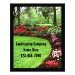 Small Plush Green Landscape Lawn Care Business Personalized Flyer