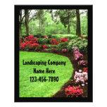 Small Plush Green Landscape Lawn Care Business Flyer