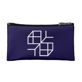 "Small pocket ""Blue Shape "" Makeup Bag"