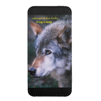 """small pocket for smartphone """"wolf """" iPhone SE/5/5s/5c pouch"""