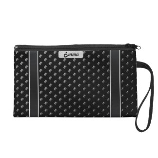 "Small pocket with wrist-strap ""Black Elegance "" Wristlet Purse"