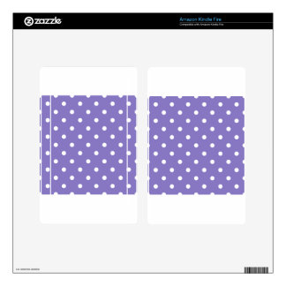 Small Poka Dots - White on Ube Kindle Fire Decals