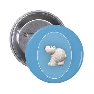 Small Polar Bear Pinback Button