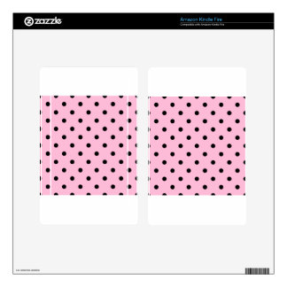 Small Polka Dots - Black on Cotton Candy Kindle Fire Decals