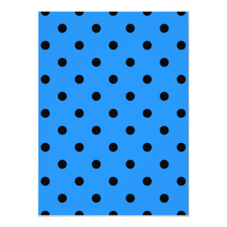 Small Polka Dots - Black on Dodger Blue Card