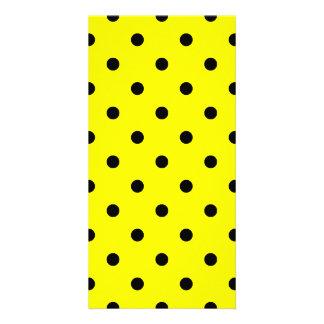 Small Polka Dots - Black on Lemon Card