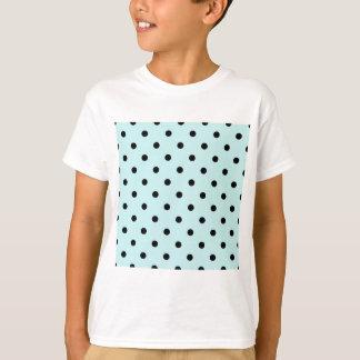 Small Polka Dots - Black on Pale Blue T-Shirt