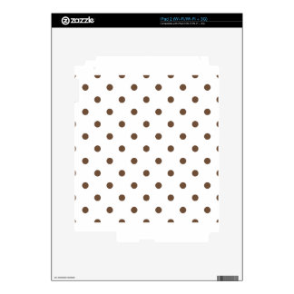 Small Polka Dots - Coffee on White Decal For iPad 2