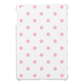 Small Polka Dots - Cotton Candy on White Case For The iPad Mini