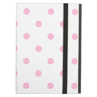 Small Polka Dots - Cotton Candy on White Cover For iPad Air