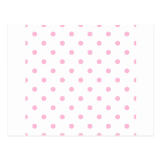 Small Polka Dots - Cotton Candy on White Postcard