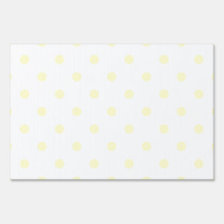 Small Polka Dots - Cream on White Yard Sign