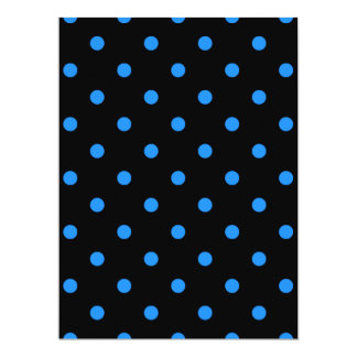 Small Polka Dots - Dodger Blue on Black Card