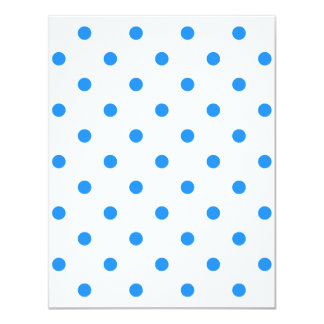 Small Polka Dots - Dodger Blue on White Card