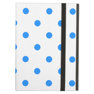 Small Polka Dots - Dodger Blue on White Case For iPad Air