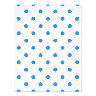 Small Polka Dots - Dodger Blue on White Letterhead