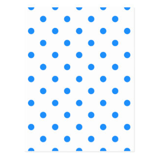 Small Polka Dots - Dodger Blue on White Postcard