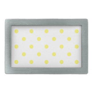 Small Polka Dots - Lemon on White Belt Buckle