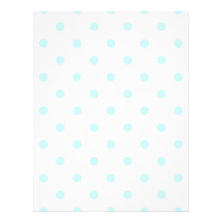 Small Polka Dots - Pale Blue on White Letterhead