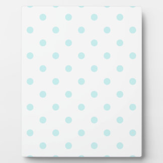 Small Polka Dots - Pale Blue on White Plaque
