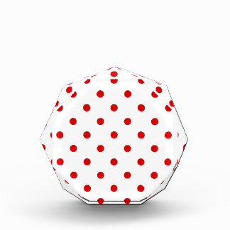 Small Polka Dots - Rosso Corsa on White Award