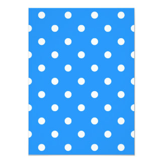 Small Polka Dots - White on Dodger Blue Card