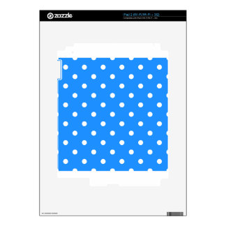 Small Polka Dots - White on Dodger Blue Decal For The iPad 2