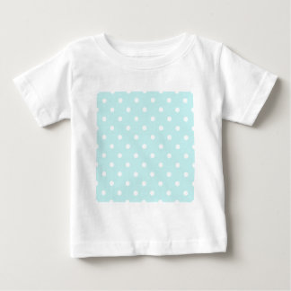 Small Polka Dots - White on Pale Blue Baby T-Shirt